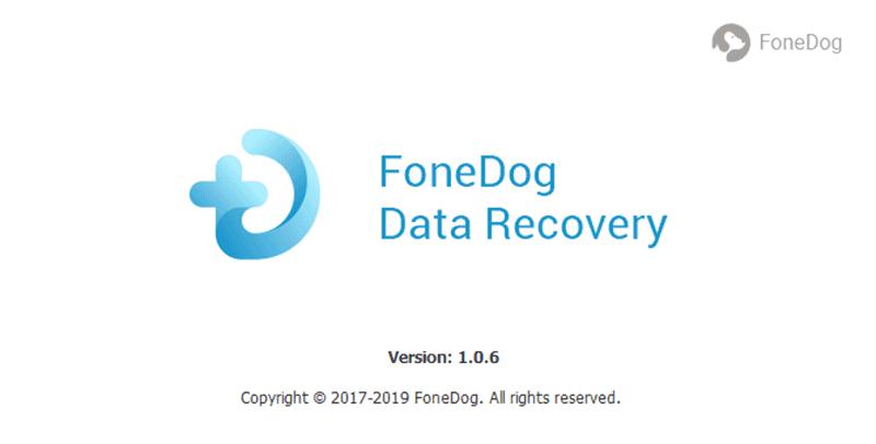 Uruchom FoneDog Data Recovery