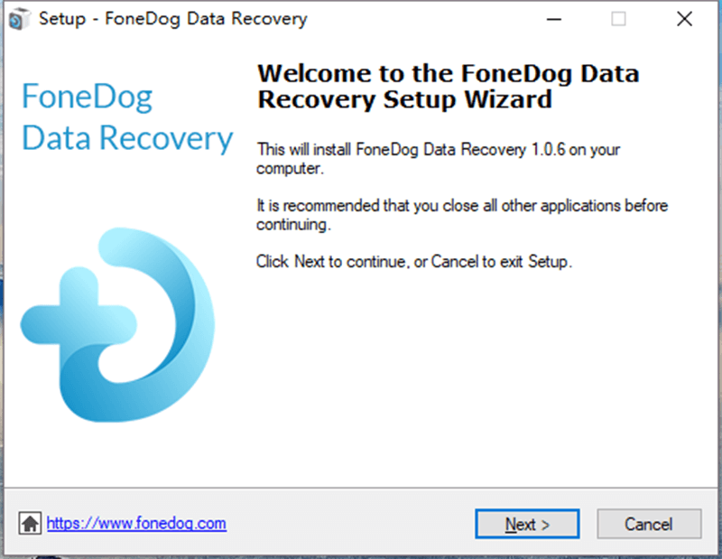 Konfiguracja odzyskiwania danych FoneDog