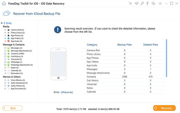 Przejrzyj pliki kopii zapasowych iCloud