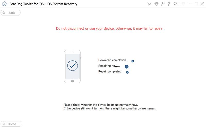 Napraw system iOS