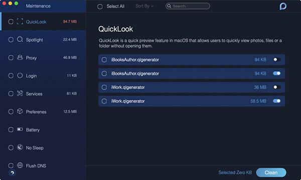 konserwacja quicklook