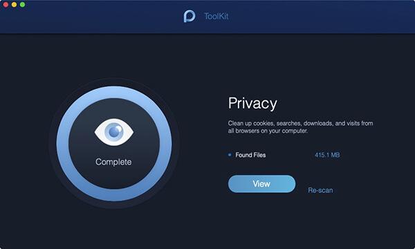 Skanowanie prywatności zostało wykonane
