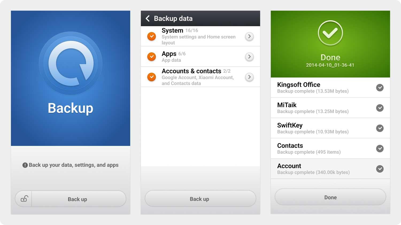 Restore From Xiaomi App Backup