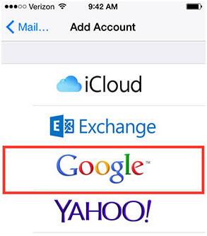 Dodaj konto Google 1