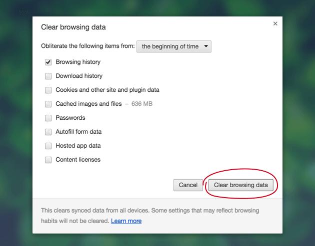 Wyczyść pliki cookie Chrome