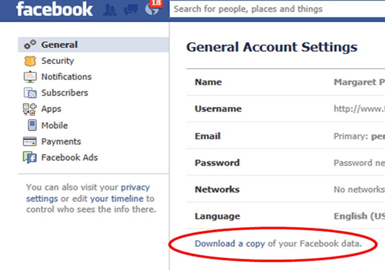 Facebook Chats Wiederherstellen