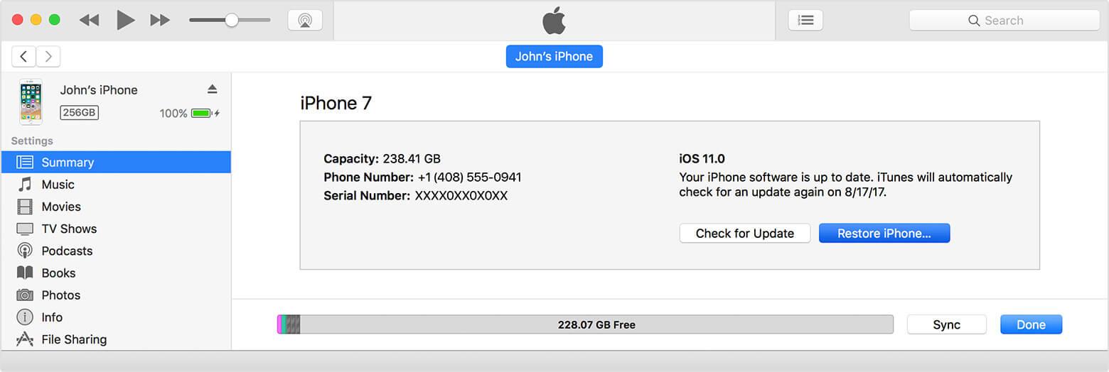 przenieść kontakty przez iTunes