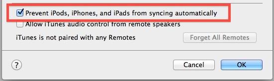 Uruchom iTunes i Zapobiegaj automatycznej synchronizacji