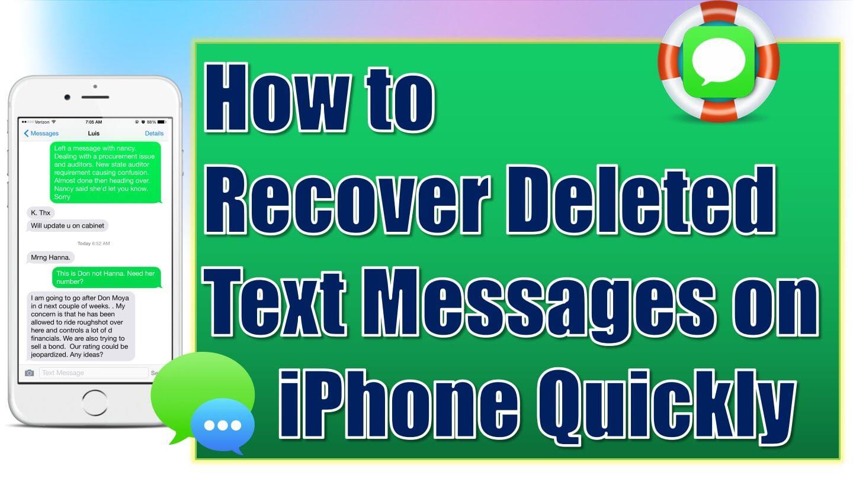 Jak odzyskać usunięte wiadomości tekstowe z iPhone'a