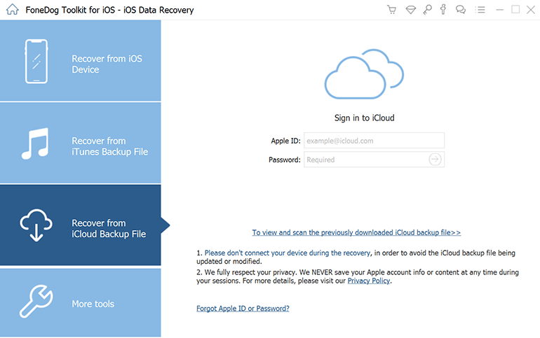 Odzyskaj dane z iCloud Backup
